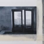 Sin titulo - óleo sobre papel y fotocopias - 13 x 18 cms.