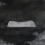 Serie Habitar un lugar - Carbon y grafito sobre papel 30 x 30 cms.